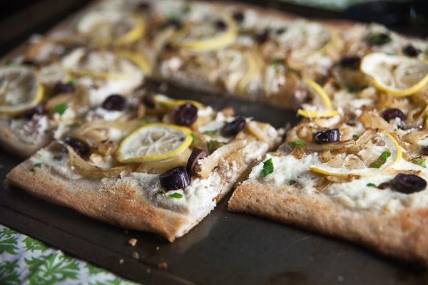 Lemon, Fennel + Olive Pizza 3