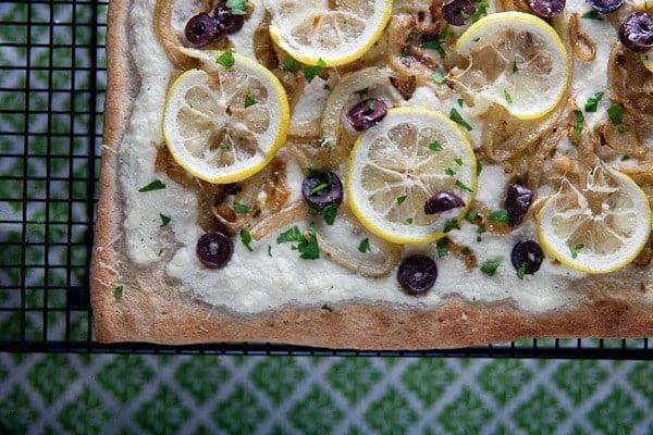 Lemon, Fennel + Olive Pizza 2