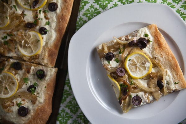 Lemon, Fennel + Olive Pizza 1
