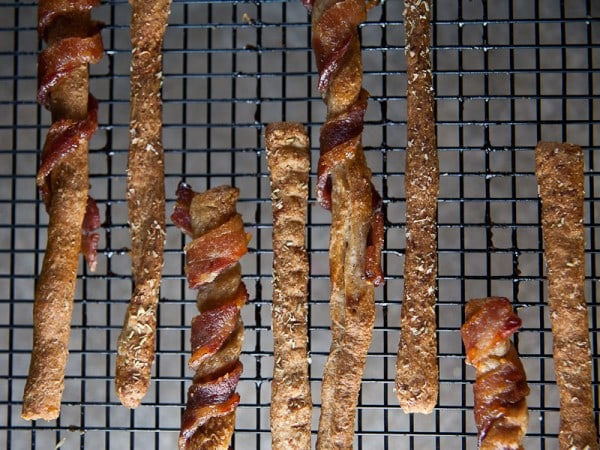 Easy Grissini Two Ways: Bacon Wrapped + Rosemary Parmesan 2