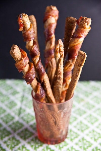 Easy Grissini Two Ways: Bacon Wrapped + Rosemary Parmesan 5