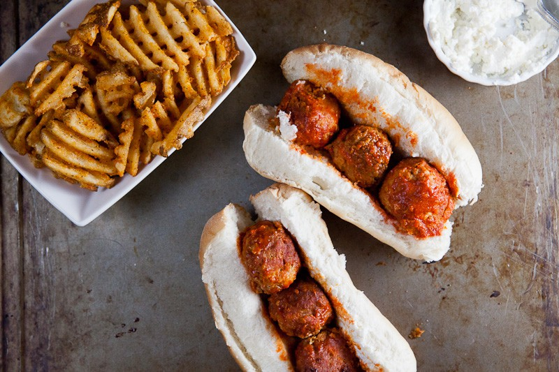 Crock Pot Buffalo Chicken Meatball Subs 7