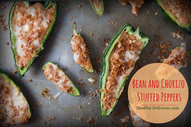 bean and chorizo stuffed peppers-2
