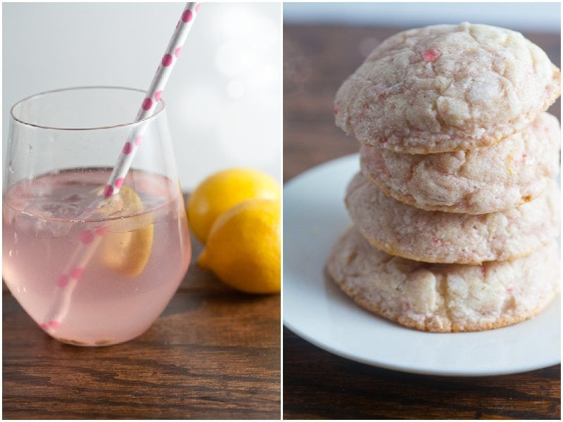 Pink Lemonade Cookies from Healthy-Delicious.com