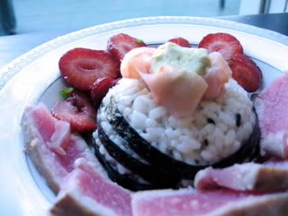 Meat-Free Fridays: Tuna and Strawberry Chirashi