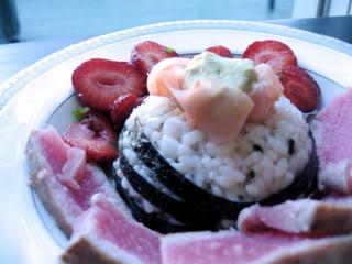Meat-Free Fridays: Tuna and Strawberry Chirashi