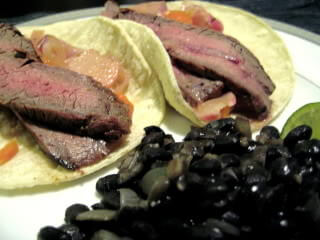 Steak and Pickled Vegetable Fajitas