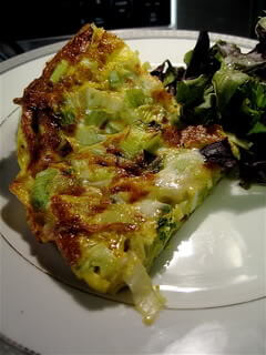 Meat Free Fridays: Frittata with Leeks, Goat Cheese & Lemon