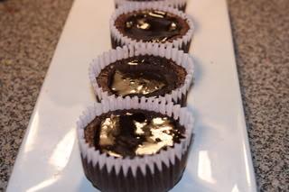 (Nearly) Flourless Chocolate Cherry Cupcakes