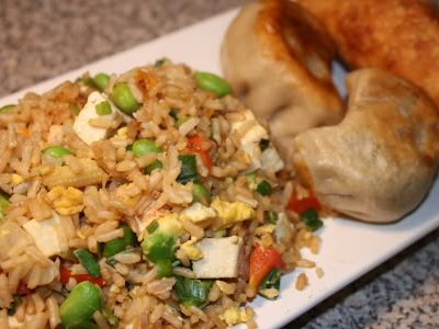 Meat Free Fridays: Fried Rice with Scallions, Endamame, and Tofu