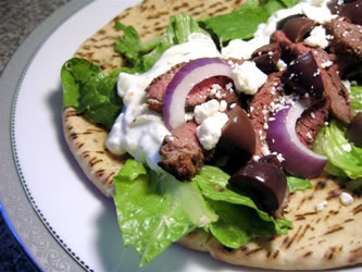 Mediterranian Lamb in a Pita