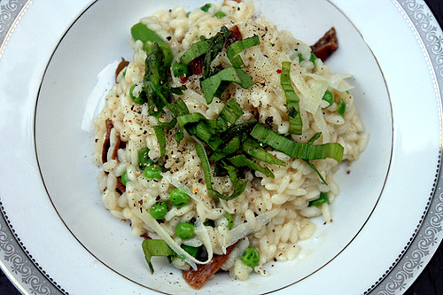 Springtime Risotto with Porcini, Ramps, and Asparagus 1