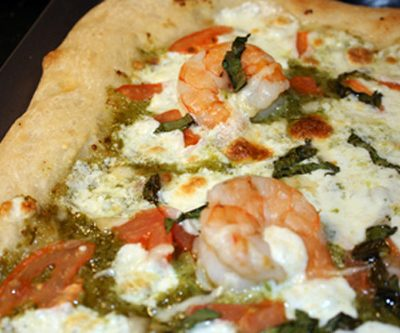 Meat-Free Friday: Shrimp Scampi Pizza