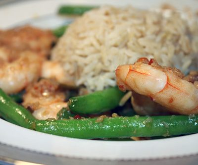 Meat-Free Friday: Spicy Shrimp with Green Beans