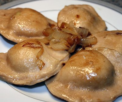 Potato and Cheddar Pierogis