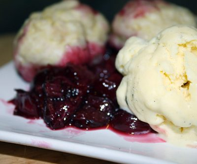 Cherry Grunt (AKA Cherries with Dumplings)