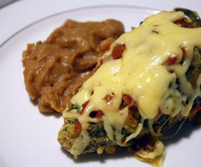 Chipotle-Cherry Pork Chile Rellenos