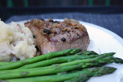 pepper steak with pan sauce