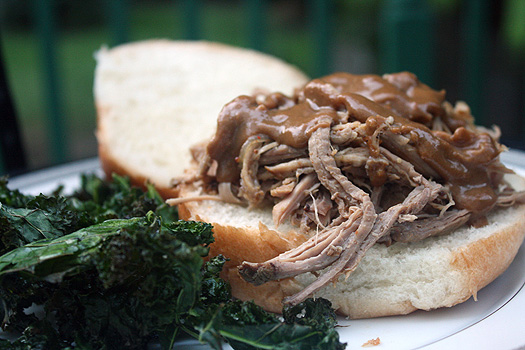 pulled pork with mustard sauce