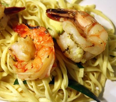 Meat-Free Friday: Shrimp Scampi over Linguine with Zucchini
