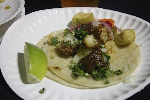 potato and chorizo taco