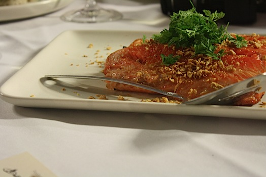 curried crusted sea trout