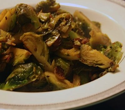 Roasted Brussels Sprouts with Ponzu