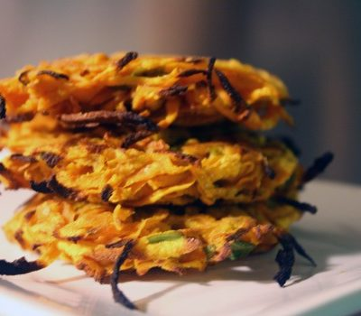 Sweet Potato Latkes with Sage Cream