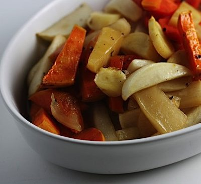 Maple-Glazed Root Vegetables