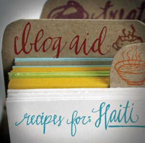 Now in Print: BlogAid – Recipes for Haiti