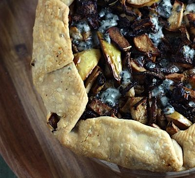 Meat-Free Friday: Apple and Blue Cheese Galette