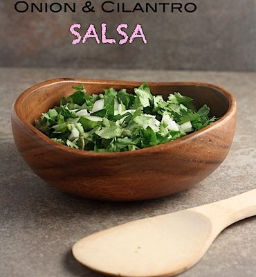 Fajitas de Carne Asada with Onion Cilantro Salsa