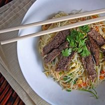 Vietnamese Braised Beef over Rice Noodle Salad 16