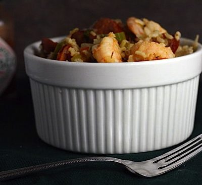 Cajun Jambalaya with Okra, Andouille and Shrimp