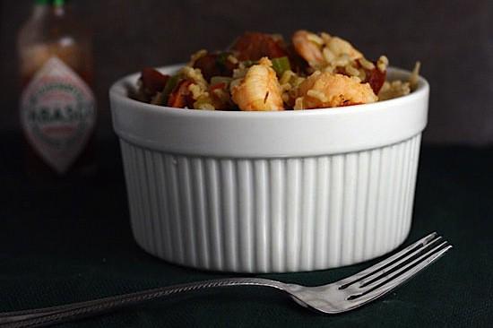 Cajun jambalaya with okra andouille and shrimp healthy delicious jambalaya with okrag forumfinder Choice Image