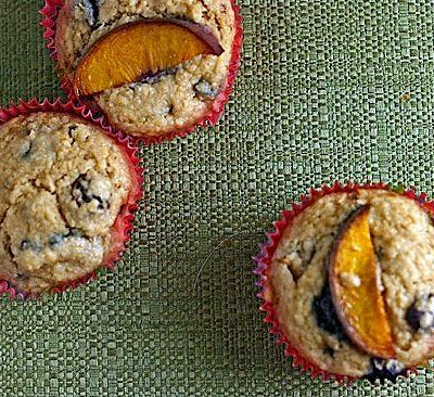 Blueberry-Peach Bran Muffins