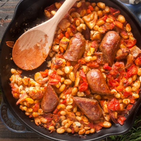 Cassoulet with White Beans, Sausage & Turkey