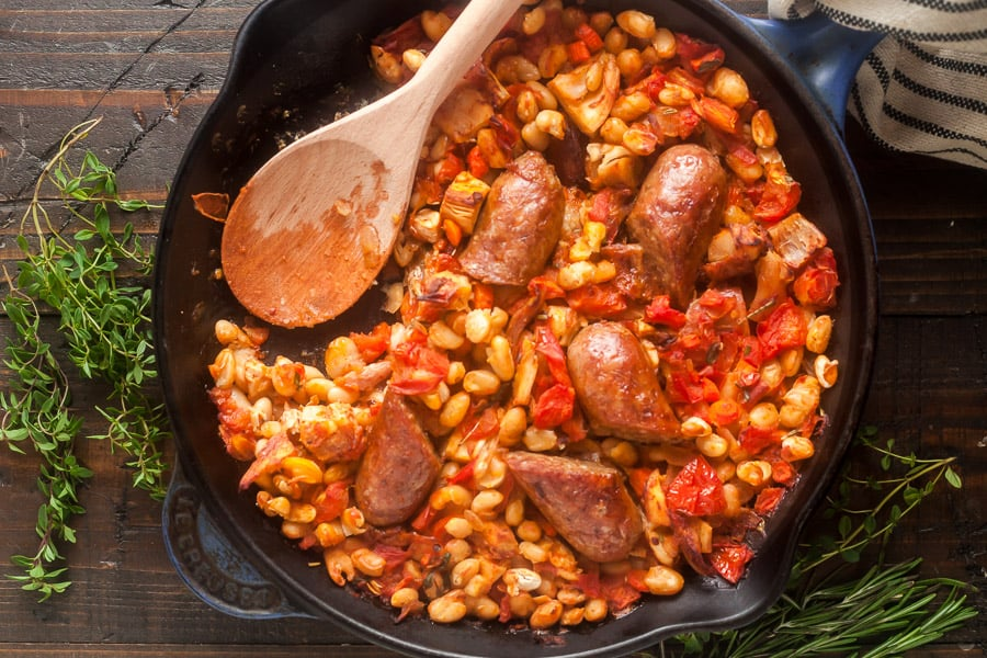 Cassoulet with White Beans, Sausage & Turkey 2