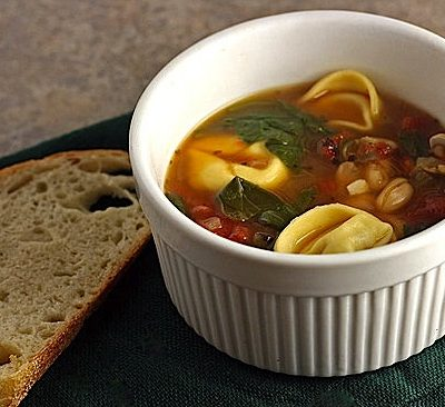 Tortelloni Fagioli with Fire Roasted Tomatoes
