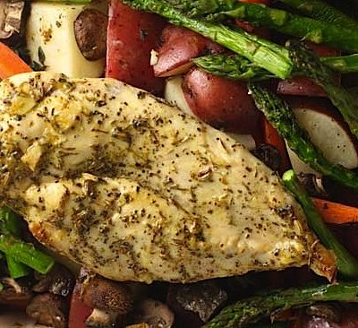 Easy Herb-Roasted Chicken & Vegetables
