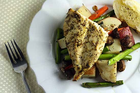 Easy Herb Roasted Chicken Vegetables