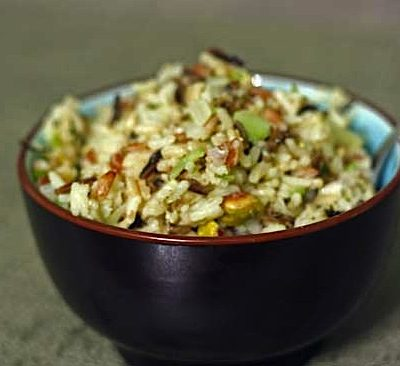 {Ridiculously Delicious} Saffron Game Hen; Wild Rice Dressing with Cherries and Pistachios