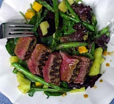 Steak and Asparagus Salad with Hoisin Dressing