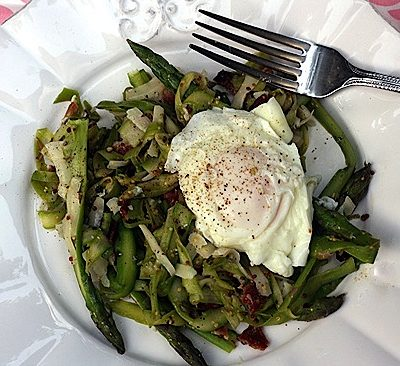 Shaved Asparagus Salad with Bacon & Havarti