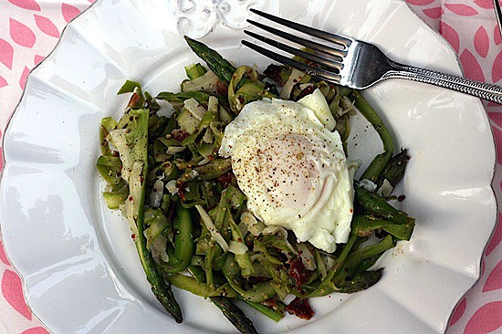 Shaved Asparagus Salad with Bacon & Havarti 3