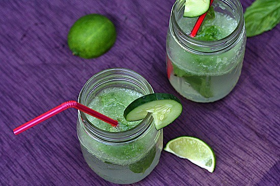 Cucumber-Basil Spritzers 1