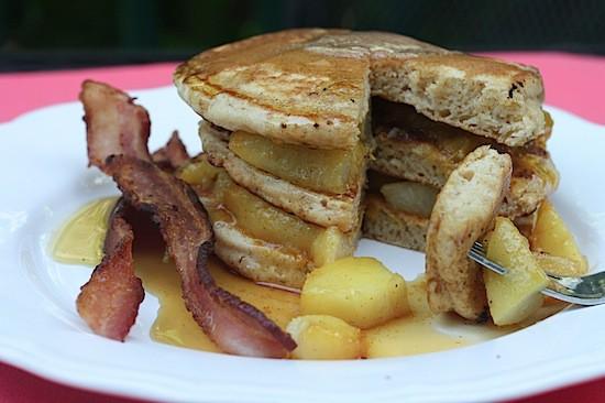 Peach Cobbler Pancakes 1