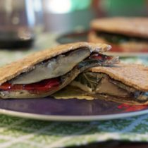Grilled Vegetable and Goat Cheese Pitas 9