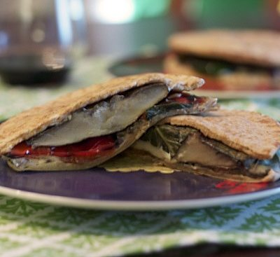 Grilled Vegetable and Goat Cheese Pitas