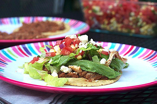 Chipotle Chicken Tostadas with Fresh Corn Salsa 5